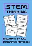 Newton's 3rd Law of Motion Forces Interactive Physics Notebook, Science