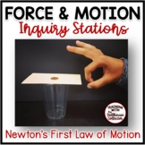 Newton's First Law of Motion Stations Force and Motion
