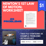 Newton's First Law of Motion: Worksheet