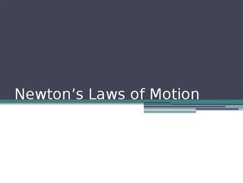 Newton's Law Powerpoint