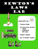 Newton's Law Stations Lab (Inertia, Force, Mass, Accelerat
