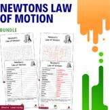 Newtons Law of Motion Science Activity - Bundle Scramble W