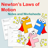 Newton's Law of Motions: Notes and Worksheets