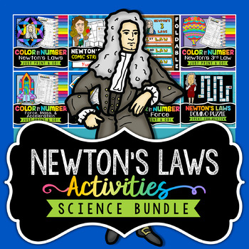 Newton's Laws of Motion Activities - Bundle - Save 30%