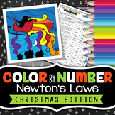 Newton's Laws - Christmas Science - Color by Number