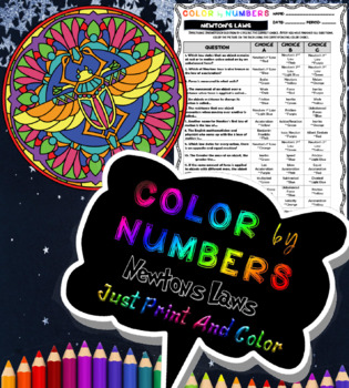 Newton's Laws Color By Numbers