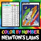 Newton's Laws - Color by Number