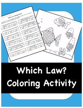 Newton's Laws Coloring Activity