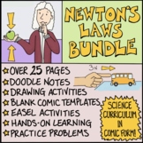 Newton's Laws Comics Bundle