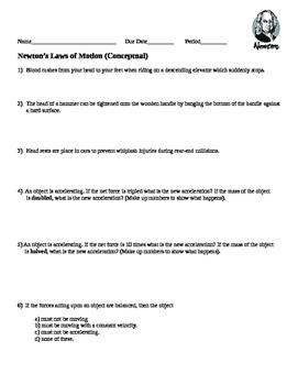 Newton's Laws Concepts
