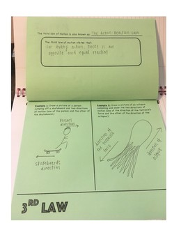 Newton's Laws Foldable