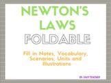Newton's Laws Foldable - Common Core Aligned with Vocabula