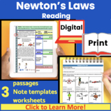 Newton's Laws of Motion Guided Reading | Newton's 1st Law,