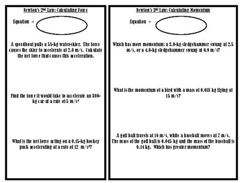 Newton's Laws Information Research Packet