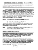 STEM/NGSS: Physics Newton's Laws Reading Activity