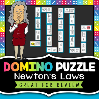 Newton's Laws of Motion Review Activity - Domino Puzzle