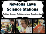 Newton's Laws Science Stations (online, group collaboratio