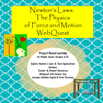 Newton's Laws:  The Physics of Force & Motion Webquest (In