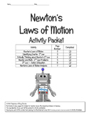 Newton's Laws of Motion Activity Packet (INCLUSION MOD)- 5th, 6th, 7th, and 8th