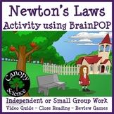 Newton's Laws of Motion Activity using BrainPOP