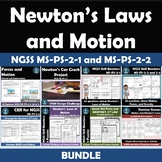 Newton's Laws of Motion Bundle NGSS MS-PS-2-1 and MS-PS-2-2