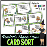 Newton's Laws of Motion Science Card Sort, Vocabulary Acti