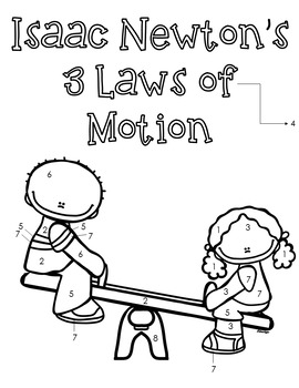 Newton's Laws of Motion Color By Number