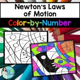 Newton's Laws of Motion Color-by-Number