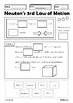 Newton's Laws of Motion Cut Paste Worksheets Middle High School Physics