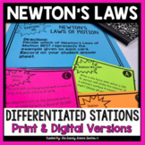Newton's Laws of Motion Task Cards (Physical Science)