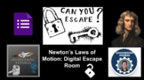 Newton's Laws of Motion: Digital Escape Room & KEY