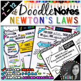 Newton's Laws of Motion Doodle Notes Bundle