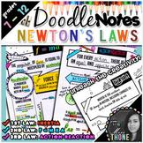 Newton's Laws of Motion Doodle Notes Bundle