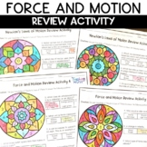 Newton's Laws of Motion EDITABLE Color by Number Review Activity