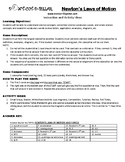 Newton's Laws of Motion HS Game Puzzle with Worksheet