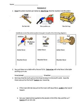 Newton's Laws of Motion Homework Bundle