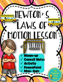 Newton's Laws of Motion Lesson- Force and Motion Notebook