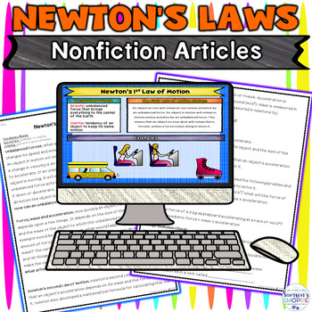 Newton's Laws of Motion Digital Notebook Activity for Google Classroom