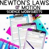 Newton's Laws of Motion Nonfiction Comprehension Article a