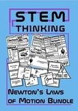 Newton's Laws of Motion Physics Doodle Sheets INB BUNDLE