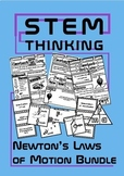 Newton's Laws of Motion Physics Doodle Sheets INB BUNDLE