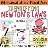 Newton's Laws of Motion Pixel Art Digital Review