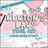 Newton's Laws of Motion Pixel Art Digital Review
