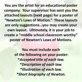 Newton's Laws of Motion Poster Acitivity