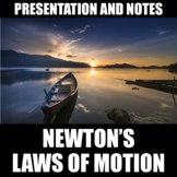 Newton's Laws of Motion Presentation and Notes | Print | Digital