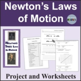 Newton's Laws of Motion Project, Worksheets and Activity