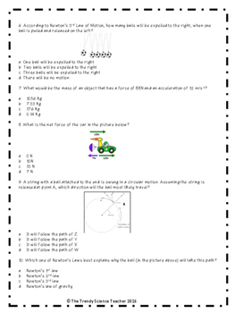 Newton's Laws of Motion Quiz