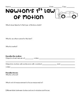Newton's Laws of Motion Research Project