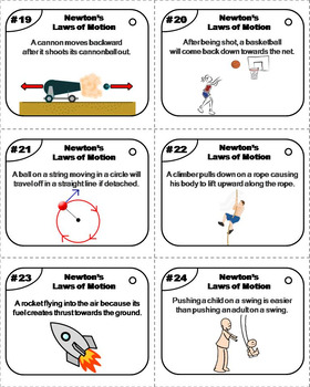 Newton's Laws of Motion Task Cards / Force and Motion Task Cards