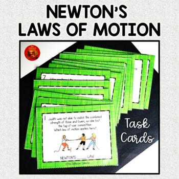 Newton's Laws of Motion Task Cards w/Answer Keys - Which Law of Motion Applies?